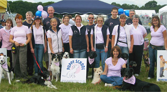 Group of puppy school tutors