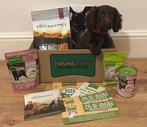 Puppy sitting Natures Menu Box